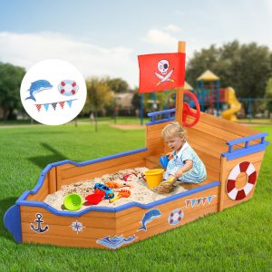 Wooden Outdoor Sand Box Set